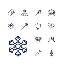 Year icons vector
