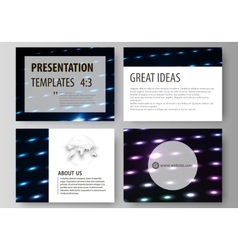 Business templates for presentation slides vector image vector image
