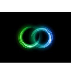 Neon light dark green blue vector