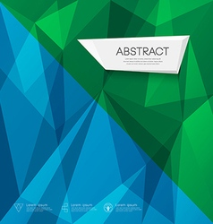 Abstract triangles geometric blue and green concep vector image