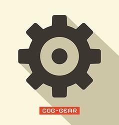 Cog - Gear Symbol vector image vector image