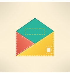 Colorful envelope with copyspace Mail and vector image