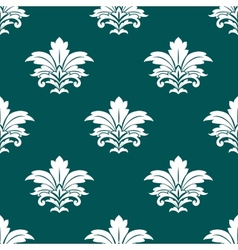 Damask style repeat arabesque pattern vector image