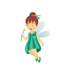 Fairy cute girl isolated vector