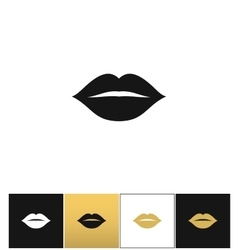 Female lips kiss print icon vector image vector image