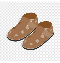 mens sandals isometric icon vector image