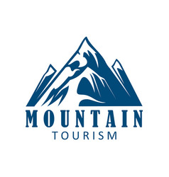 mountain tourism and climbing sport icon design vector image