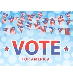 Vote for america vector