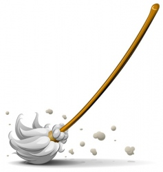 Broom sweep floor vector