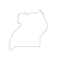 uganda map outline vector image vector image