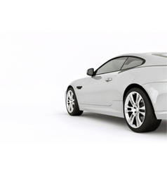 Very fast sport white car vector image vector image