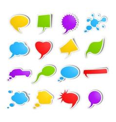 bubble speech stickers vector image vector image