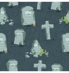 Halloween tombs seamless pattern vector image vector image
