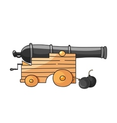 huge cannon vector image