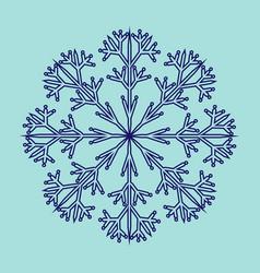 snowflake sign 2711 vector image