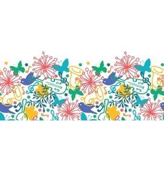 Spring music symphony horizontal seamless pattern vector image
