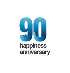 90 years happiness anniversary template design vector