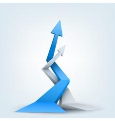 Abstract 3d arrows logo vector