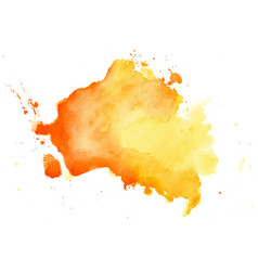 Abstract yellow watercolor hand drawn texture vector