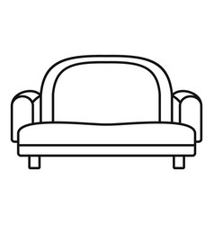 armchair sofa icon outline style vector image