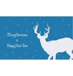Backgrounds merry christmas with deer vector