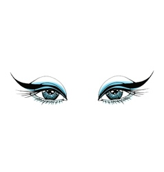 Beautiful woman eyes vector image