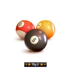 Billiard balls isolated vector