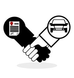 Car sale design sale concept white background vector