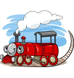 Cartoon locomotive or engine character vector