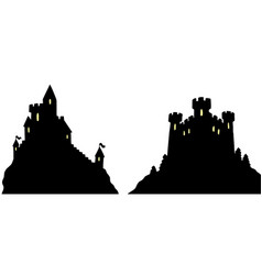 castles silhouettes vector image