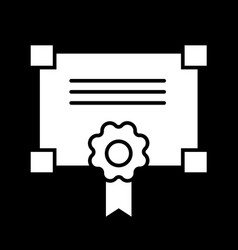 Certificate solid icon vector