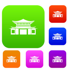 chinese set color collection vector image