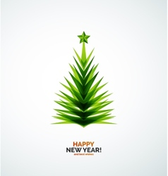Christmas tree modern geometric design vector image