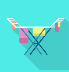 Clothes dry stand icon flat style vector