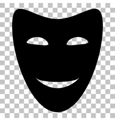 Comedy theatrical masks Flat style black icon on vector image