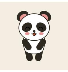 Cute bear panda tender isolated icon vector