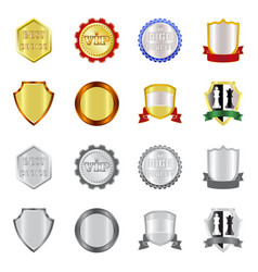 Design emblem and badge icon collection vector