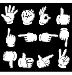 Different hand positions vector