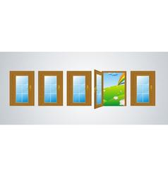 doors gray vector image