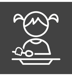 Eating Food vector image