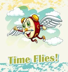 English idiom time flies vector
