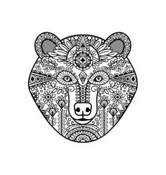 entangle bear head vector image