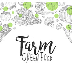 Farm green food banner template can be used vector