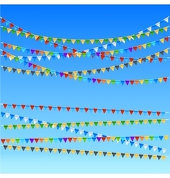 Festive flags background vector