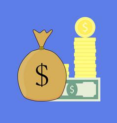 financial capital vector image vector image