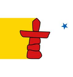 flag canadian state nunavut vector image