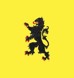 Flag of avesnes-sur-helpe in nord vector