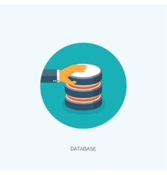 Flat data storage Cloud vector