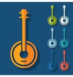 Flat design banjo vector