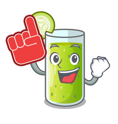foam finger sweet cucumber juice isolated on vector image